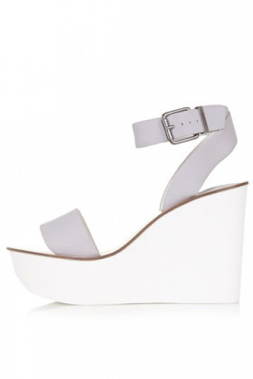 WAFFLE Two Part Wedge Sandals - Topshop Singapore