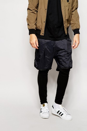 ASOS Skinny Joggers With Short Layer Detail