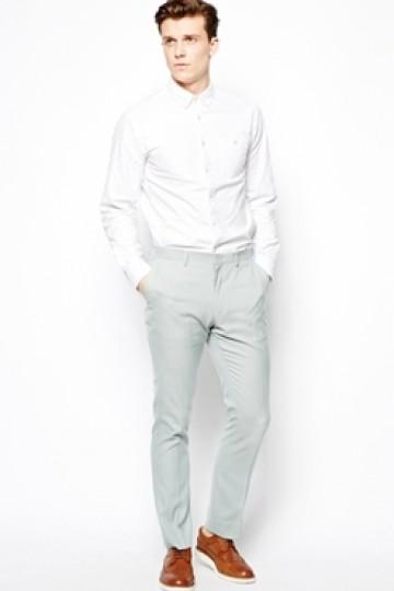 ASOS Slim Fit Smart Trousers In Oxford