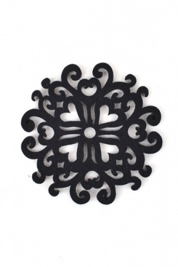 Art Deco Coasters - Gothic Black (4pcs)