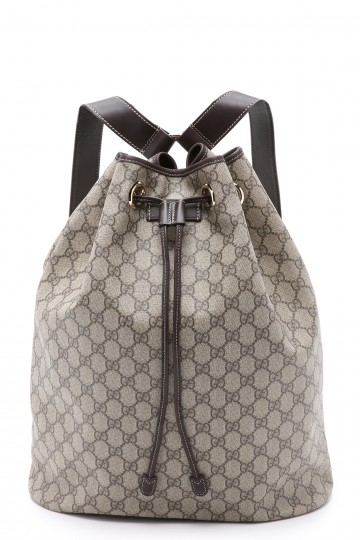 Gucci Canvas Cinch Backpack (Previously Owned)