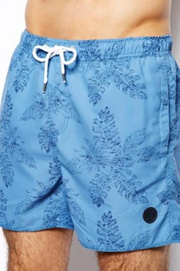 Native Youth Swim Shorts In Tonal Floral Print