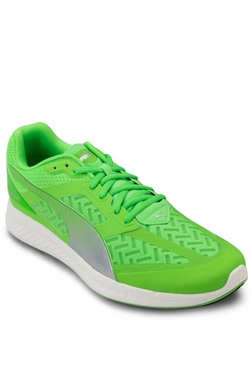 Ignite Pwrcool Fluo Green-Puma Silver Running Shoes