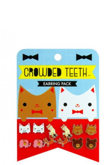 Cat earring set by Crowded Teeth | Little Moose | Cute bags, gifts, toys, jewellery and accessories from independent designers and famous brands