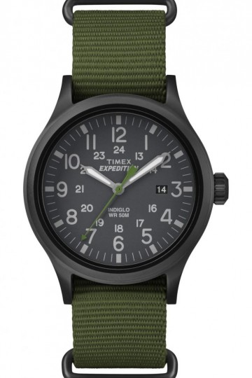 Timex Expedition® Scout Green Double Layer Nato Style Slip-thru Strap Watch