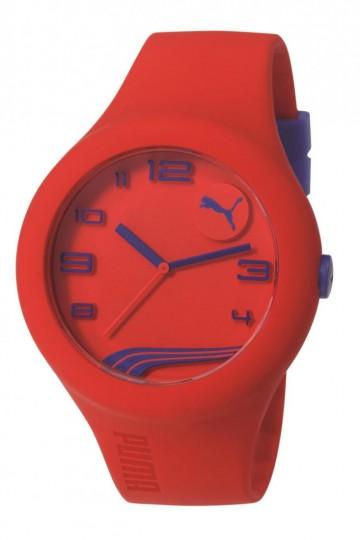 Puma Form XL Red/Blue Silicon Rubber Watch