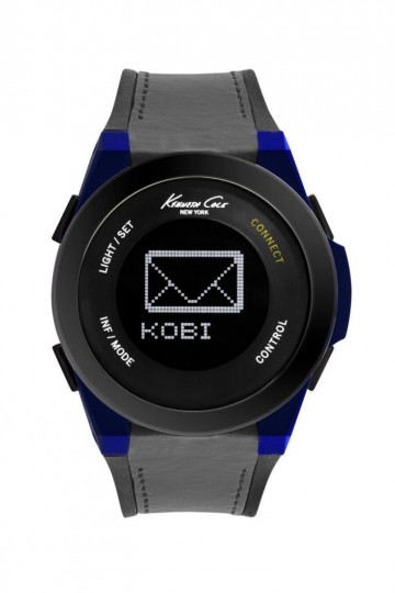 Kenneth Cole Smart Black/Blue Silicon Rubber Watch