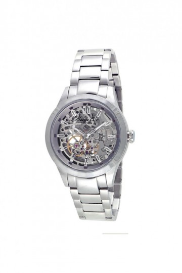 Kenneth Cole Automatic Silver Skeleton Dial Watch