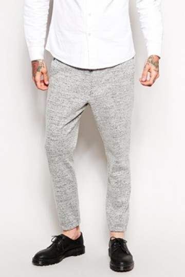 ASOS Skinny Fit Smart Cuffed Joggers In Wool Mix