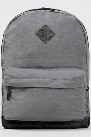 Grey Canvas Backpack - New In- TopMan Singapore