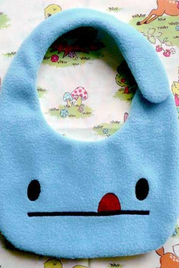 littleoddforest | Cheeky Monster Baby Bib (Blue)