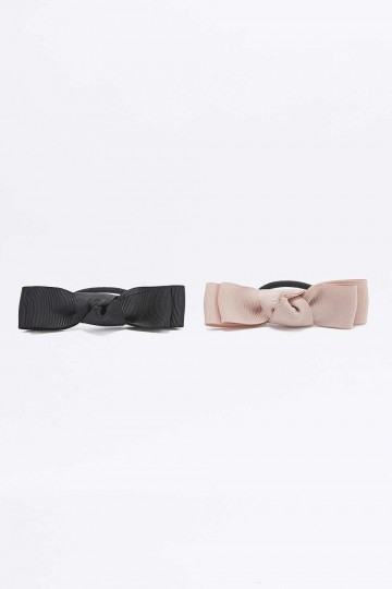 Knotted Bow Hair Bobble Two-Pack