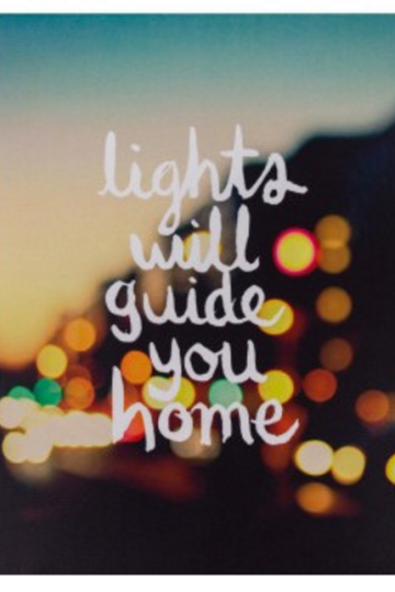 Lights Will Guide You Home Print (13x18cm)
