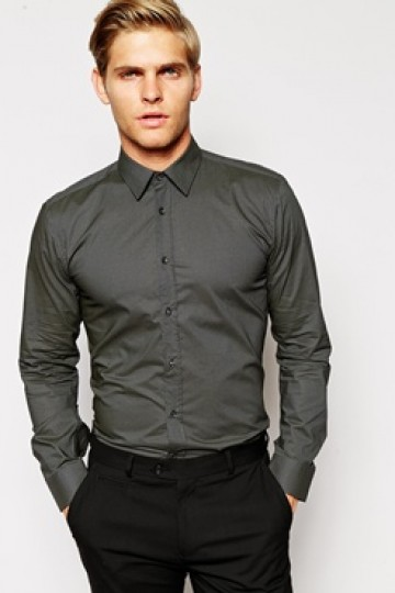 HUGO by Hugo Boss Shirt with All Over Print in Slim Fit