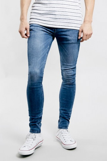 MID WASH SPRAY ON JEANS - New This Week - New In - TopMan Singapore