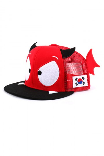 M. Kids Red Devil Mesh Snapback Cap