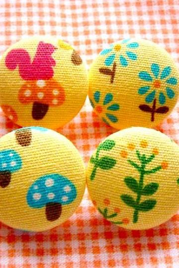 littleoddforest | Psychedelic Forest (Pack Of 4 Fabric Buttons)