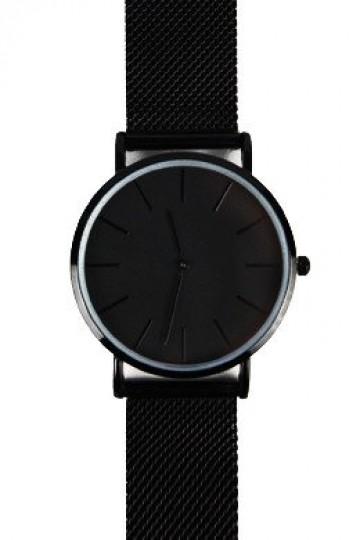 The Mesh Watch - Black Steel