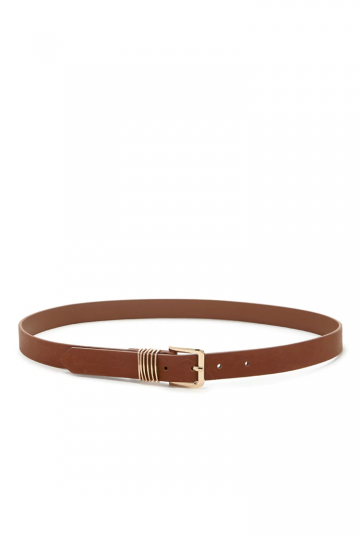 Multi-Ring Faux Leather Belt