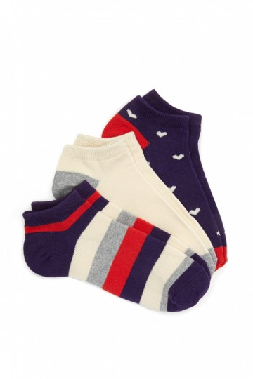 Girls Heart & Stripe Sock Set (Kids)