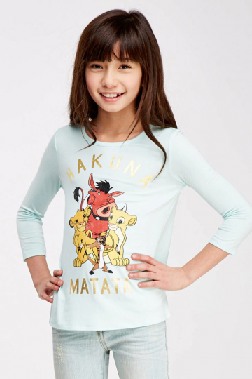 Girls Metallic Hakuna Matata Graphic Tee (Kids)