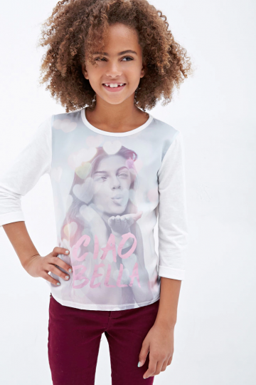 Girls Ciao Bella Graphic Top (Kids)