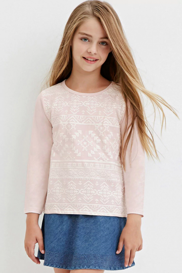 Girls Tribal Print Top (Kids)