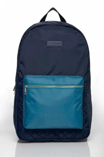 Men Colorblock Quilted Backpack