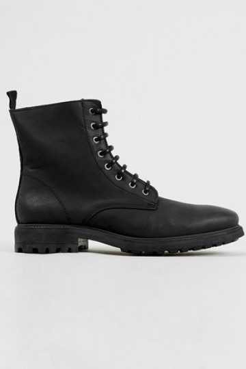 'Martial' Black premium soft leather boots - Boots - Shoes and Accessories - TopMan Singapore