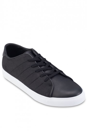 Faux Brushed Leather Sneakers