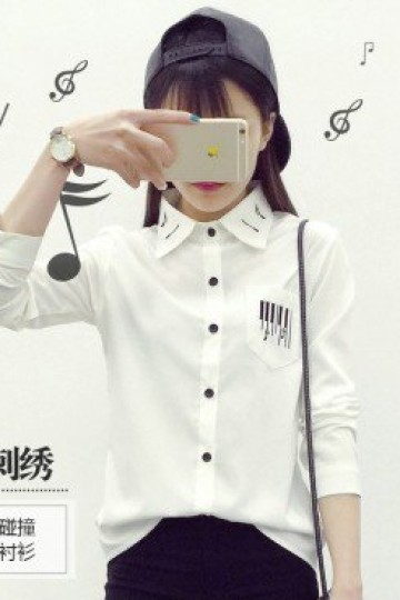 Music & Piano Long Sleeve Top (RK065759)