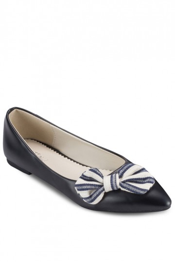 PLAY! Sally Striped Bow Flats