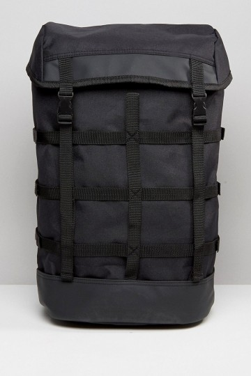 ASOS Nylon Backpack With Cage Straps