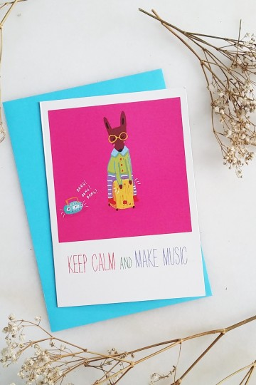 TDGHS Greeting Card - Keep Calm and Make Music