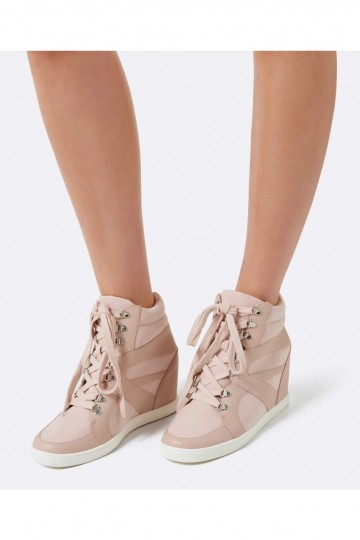 Tia Lace Up Wedge Sneakers