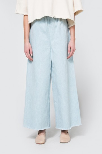 Long Pant in Light Denim