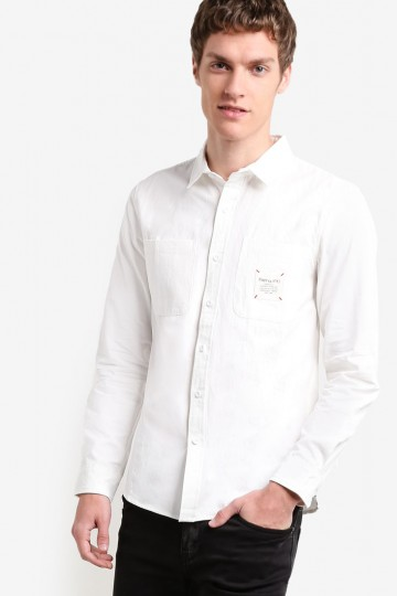 Slim Fit Oxford Shirt With Badge