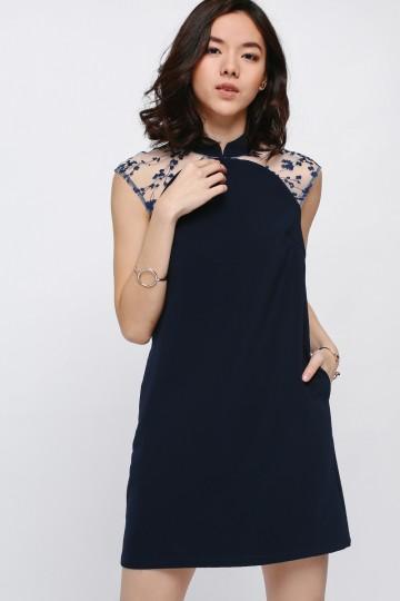 Giada Embroidered Shoulder Dress