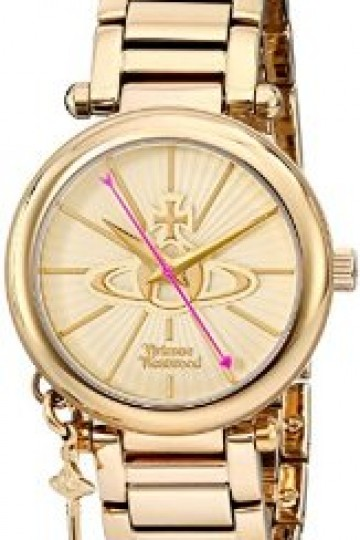 Vivienne Westwood Kensington II Women's Quartz Watch with Gold Dial Analogue Display and Gold Stainless Steel Bracelet VV006KGD: Vivienne Westwood: Amazon.co.uk: Watches