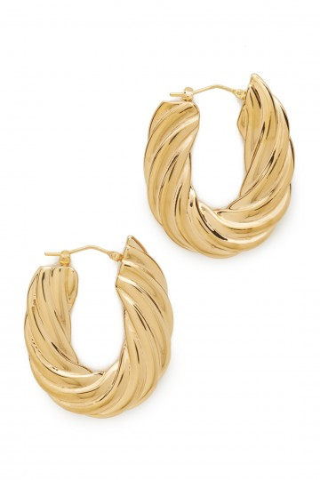 Flat Twisted Earrings