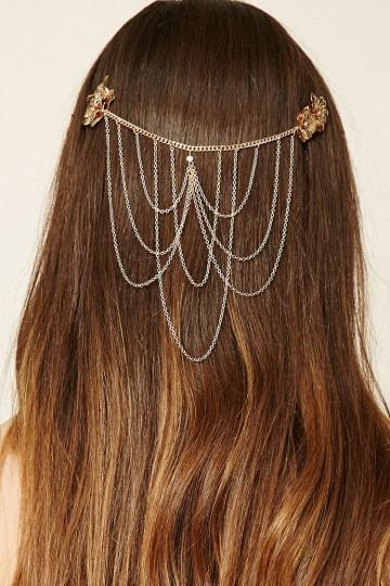 Chain Floral Hair Clip