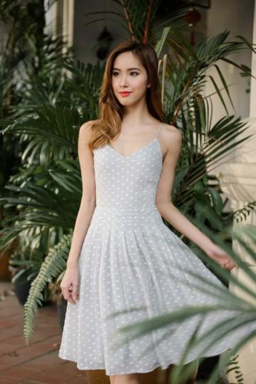 Sweet in Swissdot Dress (Light Grey)