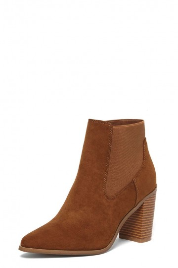 Tan 'Alaska' Pointed Ankle Boots