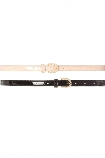 Pink and Black Pearl 2 Pack Belts