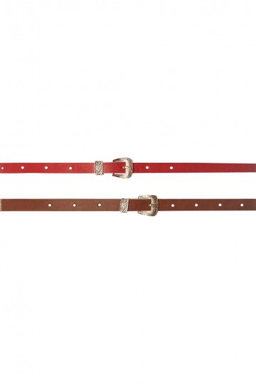 Tan And Red Western 2 Pack Belts