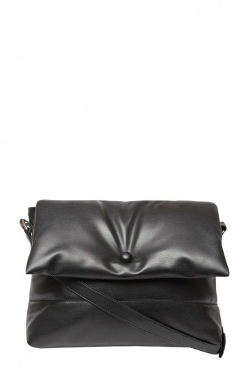 Black Padded Crossbody Bag