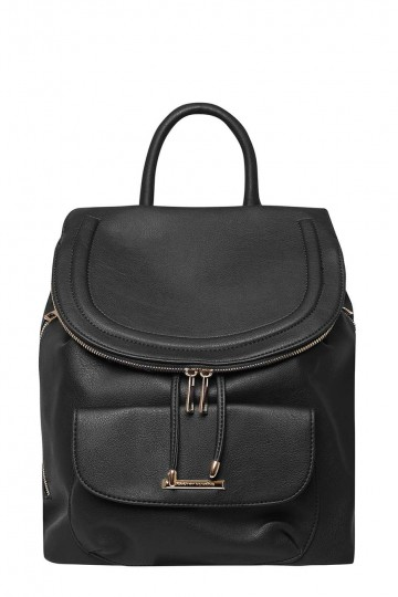 Black Foldover Backpack