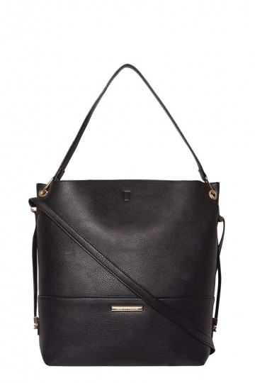 Black Minimal Hobo Bag