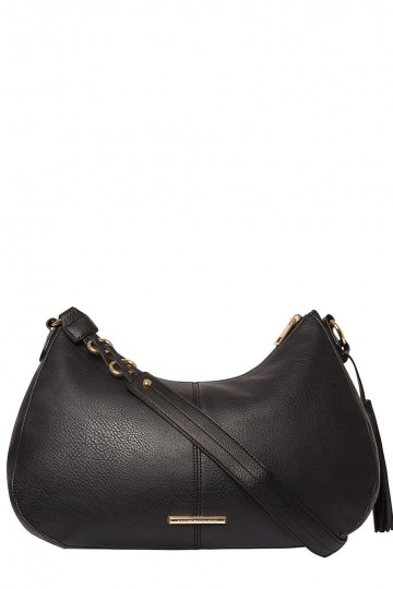 Black Crescent Shoulder Bag