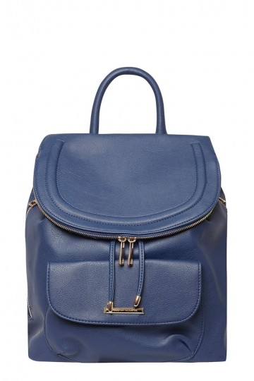Blue Foldover Backpack
